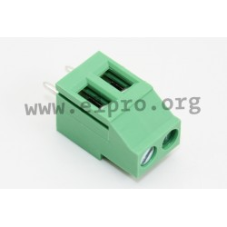DG130-5.08-02P-14-00AH, Degson terminal blocks, pitch 5,08mm, 20A, screw-cage clamp principle, DG130-5.08 series