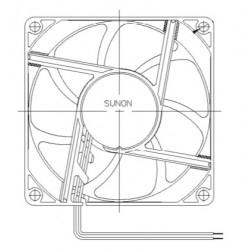 D08074420G-00, Sunon fans, 80x80x25mm, 24V DC, EE/EF/MF/GE series