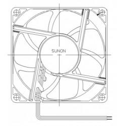 D08074600G-00, Sunon fans, 80x80x25mm, 24V DC, EE/EF/MF/GE series