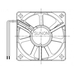 D06065860G-01, Sunon fans, 60x60x20mm, 12V DC, EB/EE/MF series