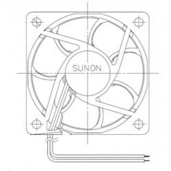 D06084900G-00, Sunon fans, 60x60x20mm, 12V DC, EB/EE/MF series