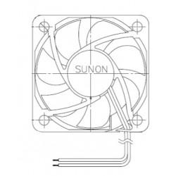 D05063500G-00, Sunon fans, 50x50x10mm, 12V DC, EE/MF series