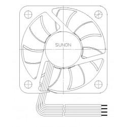 D04134400G-00, Sunon fans, 40x40x6mm, 5V DC, MF series