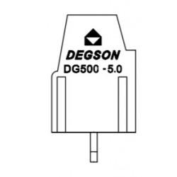 DG500-5.08-02P-14-00AH, Degson terminal blocks, pitch 5,08mm, 18A, 250V, screw-cage clamp principle, DG500-5.08 series