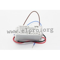 SLD15-24VL-E, Self LED drivers, 15W, IP20, constant voltage, AC dimmable, SLD15-VL-E series