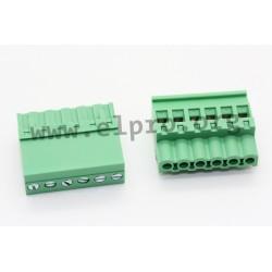 2EDGKB-5.08-06P-14-1000AH, Degson terminal multiconnectors, pitch 5,08mm, 18A, 320V, screw-cage clamp principle, 90°, 2EDGKB-5.0