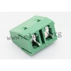 DG128-7.5-02P-14-00AH, Degson terminal blocks, pitch 7,5mm, 18A, 450V, screw-cage clamp principle, DG128-7.5 series
