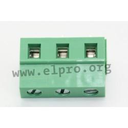 DG128-7.5-03P-14-00AH, Degson terminal blocks, pitch 7,5mm, 18A, 450V, screw-cage clamp principle, DG128-7.5 series