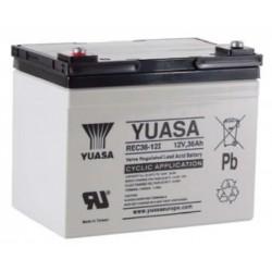 REC36-12, Yuasa lead-acid batteries, 12 volts, RE/REC/REW series