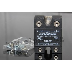 D1D12, Crydom solid state relays, 7 to 100A, 60 to 100V, MOSFET output, DC voltage, D06D and D1D series