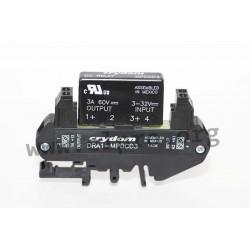 DRA1-MPDCD3-B, Crydom solid state relays, 5A, 60V, DC voltage, transistor output, DIN rail, DRA1 MP series