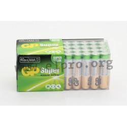 03024AB40, GP Batteries alkaline manganese batteries, Super Alkaline series