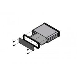 1455L801BK, Hammond diecast extruded aluminium enclosures, with aluminium end panels, 1455 series