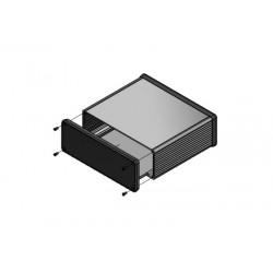 1455U1602BK, Hammond diecast extruded aluminium enclosures, with end panels, 1455 series