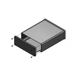 1455U2202BK, Hammond diecast extruded aluminium enclosures, with end panels, 1455 series