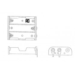 SN-33-1-PC PINS, ACE battery holders, for AA cells, SN3 series