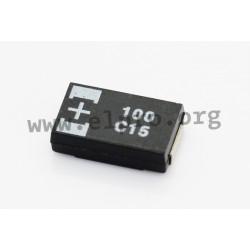 16TQC100MYF, Panasonic polymer tantalum capacitors, SMD, Poscap, TQC series
