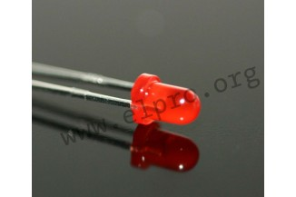50 x Red 8mm LED Diffused 800mcd 40°
