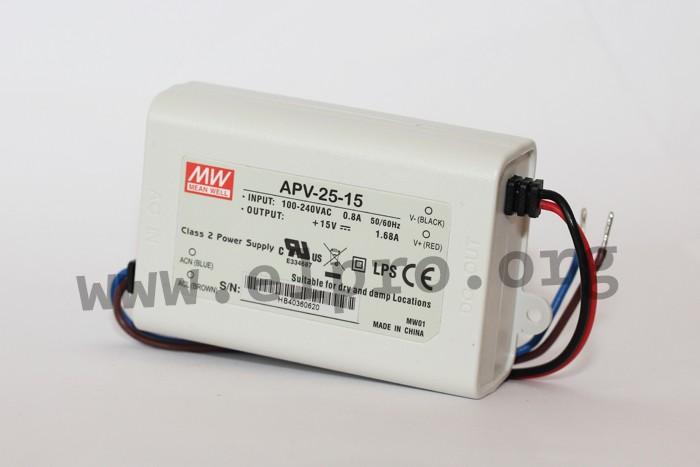APV-12-15 Mean Well 12W 15V CV Mode Power Supply